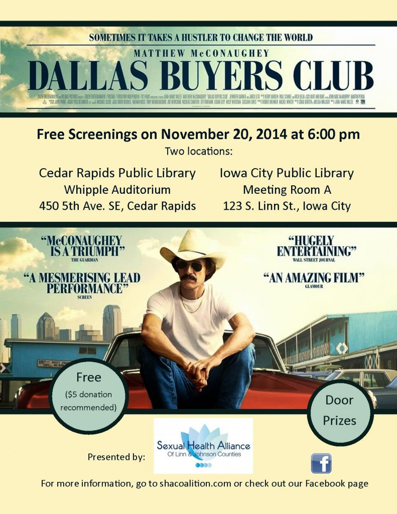 Dallas Buyers Club flyer